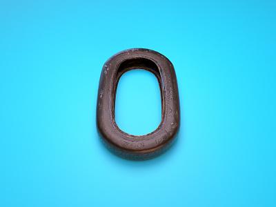 0 = Old Wheel render 36 days of type 0 wheel cinema4d illustration type typography c4d 3d