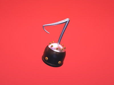 7 = Pirate Hook render 36 days of type 7 pirate hook cinema4d illustration type typography c4d 3d