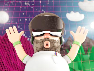 Virtual Reality gearvr virtual realiry render 3d illustration cinema4d