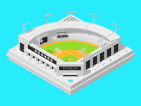 Isometric Baseball Field