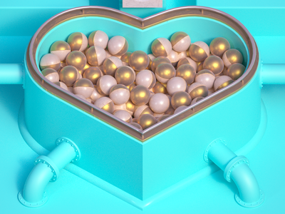 Where all balls ending typography balls heart cinema4d 3d 36 days of type