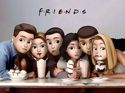 Memoji Friends animoji memoji ios12 tv 80s friends