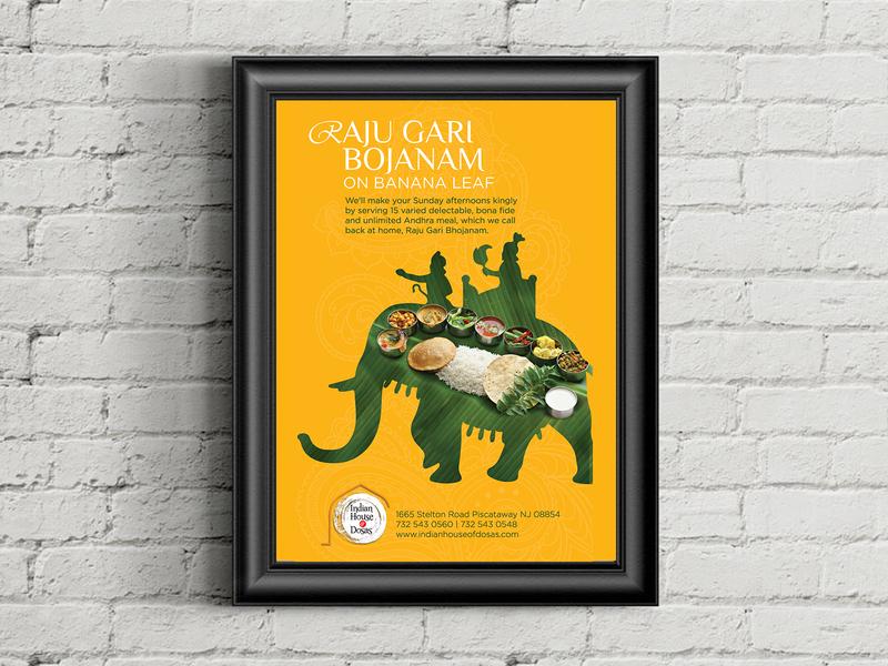 RGB elephant vector photoshop illustrator new jersey lunch restaurant meal banana leaf logo illustration flyer poster