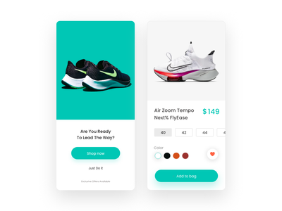 Online Shoes App UI shoes store adidas nike ios ui app ui webdesign ecommerce app online shop shoes app design ecommerce