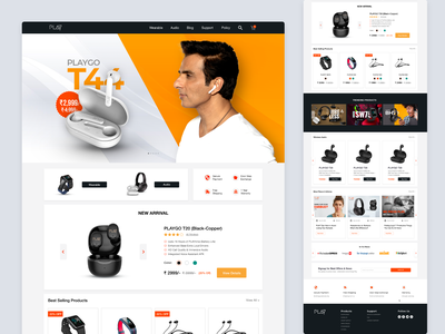 E-Commerce Homepage UI web design landing page website ecommerce product page online store shopify home page design ui ux website design