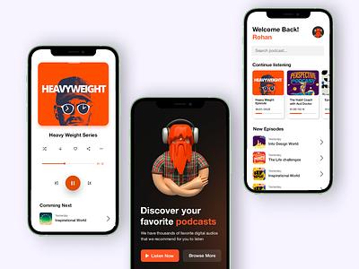 Podcast App UI audio player ios design ui design music app design ios app android app player podcast app app ui ux design app design music app