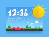 sunny for moji weather widget