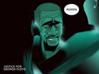 Justice for George Floyd george floyd blacklivesmatter art digital art 2d art illustration 2d