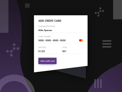 002/100 Daily UI: Credit Card Checkout