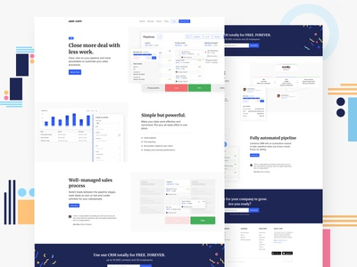 003/100 Daily UI: CRM Landing page