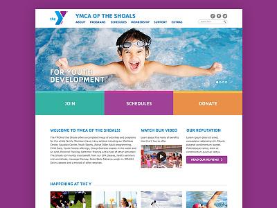 YMCA of the Shoals '14 ymca website ui