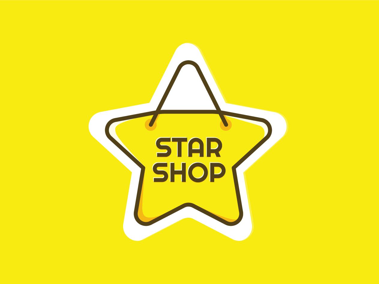 StarShop bag yellow shop star