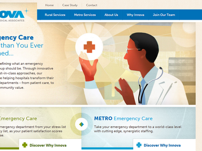 Peek at an Emergency Medical Group Homepage Design