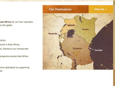 Custom map design: Kenya