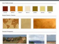 African Safari Website Moodboard