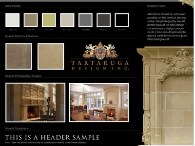 Initial website design moodboard custom mantels custom mantles website design web design black moodboard canada luxury