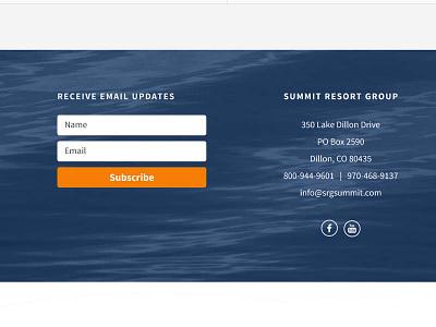 Website footer web site website footer orange blue