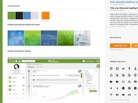 Web design project moodboard