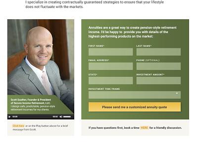 Conversion Form (Financial Advisory Services) custom website design homepage conversion cta form
