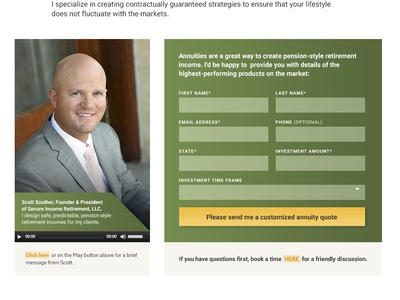 Conversion Form (Financial Advisory Services) custom website design homepage conversion cta form
