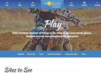 Tourism website internal page header