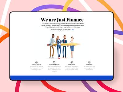 Fintech landing page section homepage landingpage color cuberto art ux ui illustraion typography web webdesign clean
