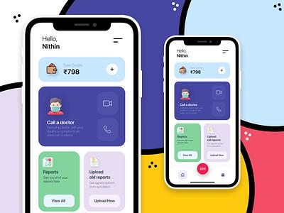 Medical app concept for the quarantine days app ui design doctor landing illustration minimal color uidesign app ui ios android app design app design ui clean