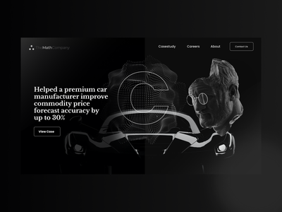Black landing page for analytics company minimal landingpagedesign landing page landing uidesign ux ui branding webdesign clean