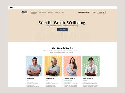Financial advisors Landing landingpage landing home product design web webdesign ui productdesign