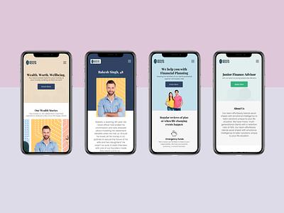 Financial Advisors Responsive Design - Mobile app responsive design landign page ux ui typography webdesign design