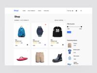 shop  Website UI