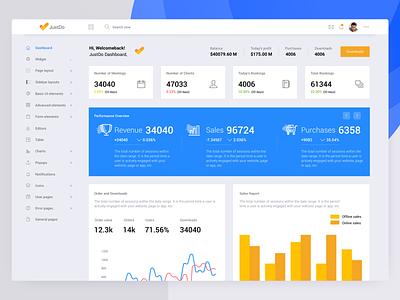 Jusdo- New Sales Analytics Dashboard webapp app tracking hr graph wizard survey admin chart sketch ui typography webdesign dashboard clean