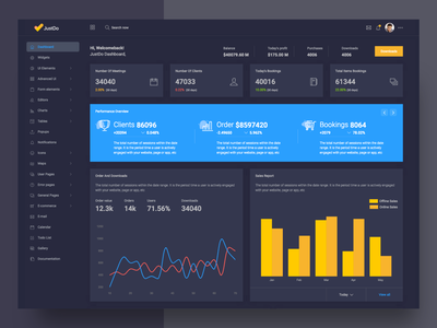 Jusdo Dark admin dashboard design web form elements hr wizard admin survey clean app webdesign ui typography dashboard