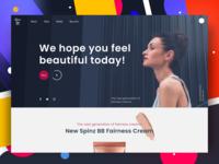 Spin Landing page design