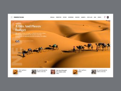 News landing page design