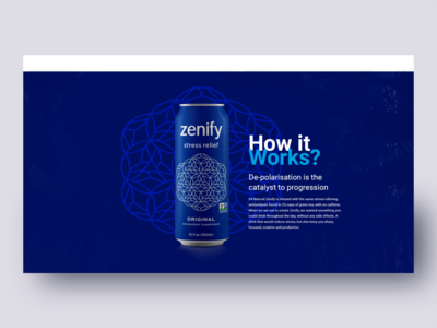 Soft drinks landing page web design