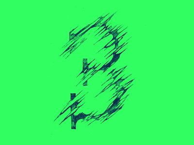 3 .  D R I B B B L E .  I N V I T E S . drawing blue green number design illustration lettering handtype typography 3
