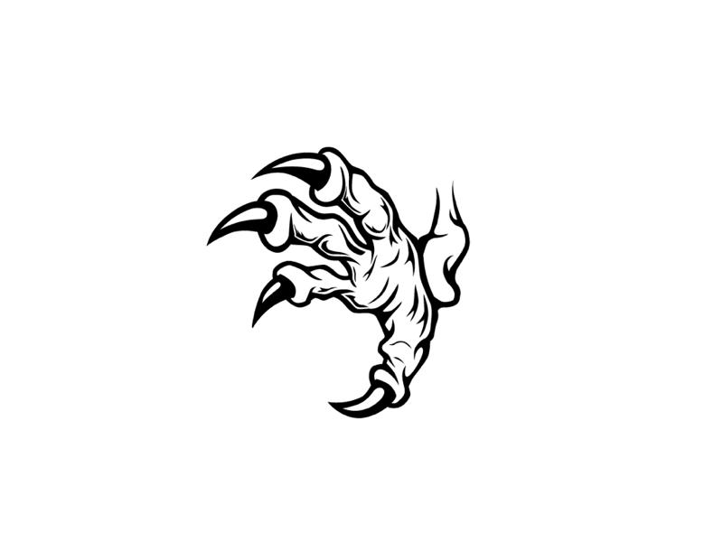 Eagle Talon Illustration white black eagle design vector illustration