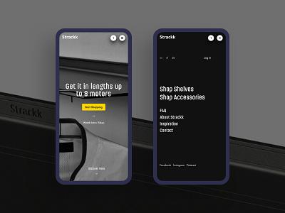 Strackk - Mobile development amsterdam ux minimalistic design interior design webshop website