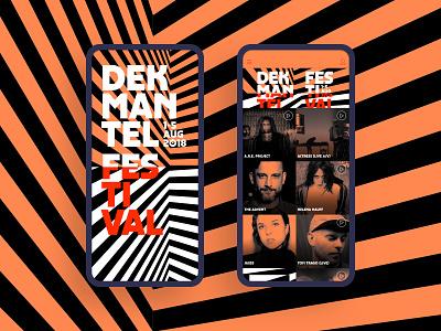 Dekmantel App 2018 ux development amsterdam graphic design mobile app festival