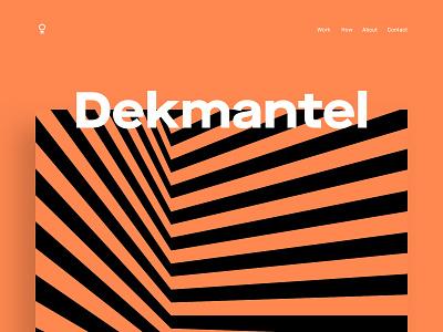 Dekmantel app 2018 - Cover festival graphic design amsterdam