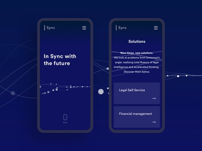 Sync - Mobile corporate quality insurance back end development front end visual design ui ux branding