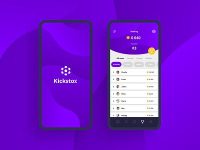 Kickstox- Mobile gaming branding development responsive amsterdam design ui ux fantasy football web app