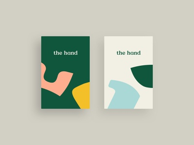 The Hand playful colors graphic design shoes pattern logo business cards identity branding