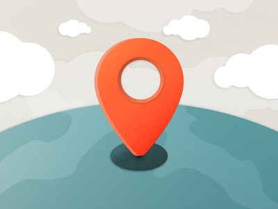 Plugin Google Maps API location clouds earth plugin globe pointer marker map illustration