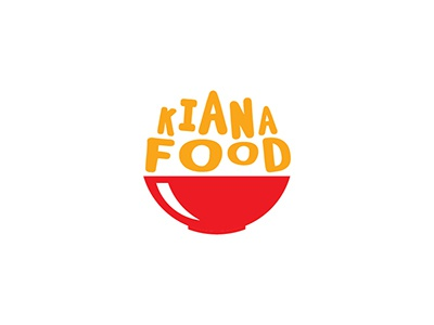 Kiana Food Logo food bowl orange red merah