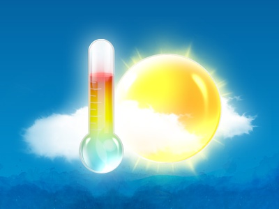 Temperature blue elements mobile rounded square illustration free iphone graphic ios design ui icon sun cloud alarm weather snooze