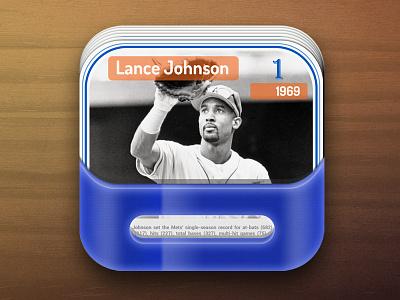 Trading Card IOS icon trading card ios icon sport collection pocket blue game app