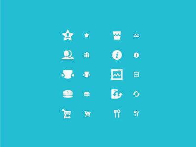 two type icon icon ui web design webdesign simple small bigger