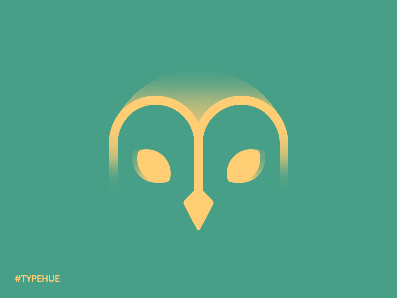 #Typehue M barn owl vector letter owl icon m typehue